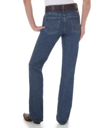 Wrangler Women's FR Western Jean Blue Stone