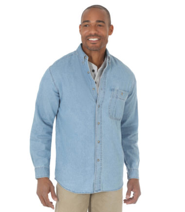 Wrangler Rugged Wear Denim Basic Shirt Stone Washed